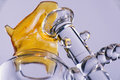 Close up view of a piece of cannabis oil concentrate aka shatter Royalty Free Stock Photo