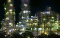 Close up view of refinery oil plant in heavy industry estate use Royalty Free Stock Photo