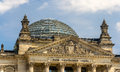 Close up view of reichstag building berlin germany in Stock Photos