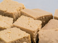 Close up view of soy cheese tofu diced Royalty Free Stock Photo