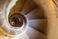 Close up view at  stone spiral stairway Royalty Free Stock Photo