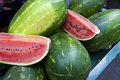 Close up view of watermelons Royalty Free Stock Images