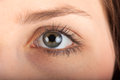 Close up view of a womans eye young Royalty Free Stock Image