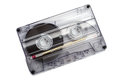 Close up of vintage audio tape cassette Royalty Free Stock Photo