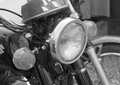 Close up of vintage motorcycle headlights Royalty Free Stock Photo