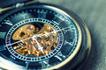 Close up of vintage pocket watch Royalty Free Stock Photo