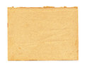 Close up of a vintage note paper on white background Royalty Free Stock Photo