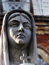 Close up of virgin mary statue the outside notre dame cathedral in ho chi minh vietnam erected in the queen peace Stock Photo