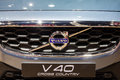 Close up Volvo V40 Cross Country at front gril Royalty Free Stock Photo
