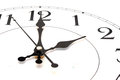 Close up wall clock on white Royalty Free Stock Image