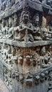 angkor wat wall figures Royalty Free Stock Photo