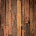 Close up of wall made of old wooden planks Royalty Free Stock Photo