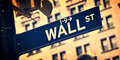 Close up of a Wall street direction sign, New York Royalty Free Stock Photo