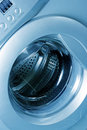 Close up of a washing machine Royalty Free Stock Image