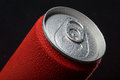 Close-up of wet coca can Stock Photo