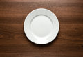 Empty plate at the table Royalty Free Stock Photo