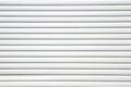 Close up white metal sheet slide door texture background. Royalty Free Stock Photo