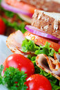 Close up of wholesome sandwich Royalty Free Stock Photo