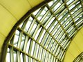 Close up of window glass building airport background Royalty Free Stock Photo