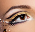 Close-up of  womanish eye Royalty Free Stock Photography