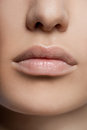Close-up of womanish lips Royalty Free Stock Image
