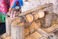 Close up wood craftmanship Royalty Free Stock Photo