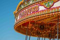 Close up of the word pleasure on a vintage merry go round Stock Photography