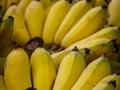 Close Up Yellow Bananas