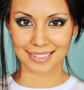 Close up of a young woman's face Royalty Free Stock Photo