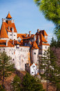 Close view of bran castle dracula castle in transylvania and wallachia romania Royalty Free Stock Image