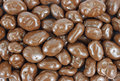 Close view of chocolate covered raisins Stock Photography