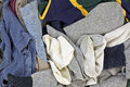 Close view men's laundered clothes Royalty Free Stock Image