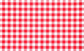 Close view of red checkerboard tablecloth Stock Images