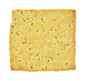 Close view single stone ground wheat cracker Stock Photography