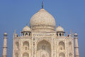 Close view of Taj Mahal against blue sky, Agra, Uttar Pradesh, I Royalty Free Stock Photo