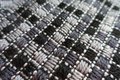 Close view of grey embroidered fabric Royalty Free Stock Photo