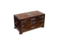 A Closed Antique Wooden Jewelry Box Royalty Free Stock Photo