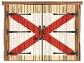 Closed Barn Door With Alabama State Flag Royalty Free Stock Photo