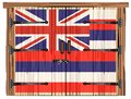 Closed Barn Door With Hawaii State Flag Royalty Free Stock Photo