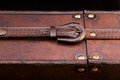 Closed belt on a wooden case Royalty Free Stock Image