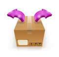 Closed box with arrow outside Royalty Free Stock Photo