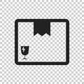 Closed box icon. Shipping pack flat vector illustration on isola Royalty Free Stock Photo