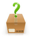 Closed box with question mark Stock Photos