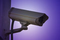 Closed circuit television cctv on the wall Stock Images