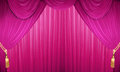 Closed curtain Royalty Free Stock Photo