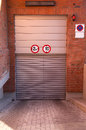 Closed entrance to a subterranean parking garage Royalty Free Stock Photography