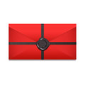 Closed envelope. Sealing wax. Vector Illustration