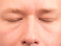 Closed eyes for concepts like sleep dreams and wishes Royalty Free Stock Photography