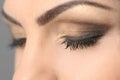 Closed Eyes Smoky Makeup Closeup