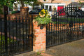 Closed gate Royalty Free Stock Photo